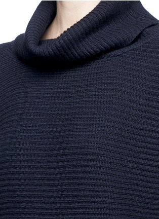 Detail View - Click To Enlarge - The Row - 'Jose' foldover turtleneck cashmere-silk sweater