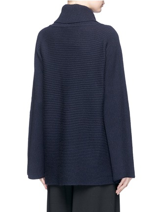 Back View - Click To Enlarge - The Row - 'Jose' foldover turtleneck cashmere-silk sweater