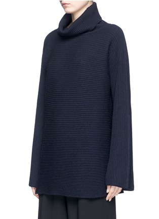 Front View - Click To Enlarge - The Row - 'Jose' foldover turtleneck cashmere-silk sweater