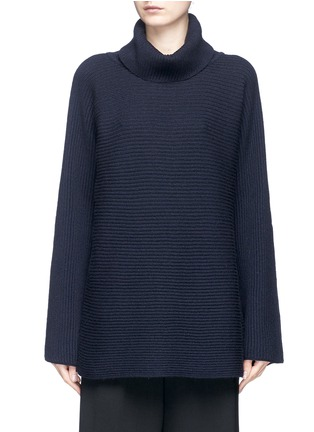 Main View - Click To Enlarge - The Row - 'Jose' foldover turtleneck cashmere-silk sweater