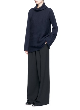 Figure View - Click To Enlarge - The Row - 'Jose' foldover turtleneck cashmere-silk sweater