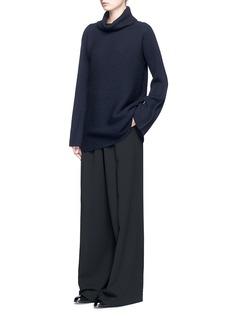 The Row'Jose' foldover turtleneck cashmere-silk sweater