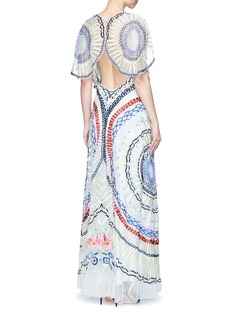 Temperley London 'Long Aura' geometric embroidered tulle dress