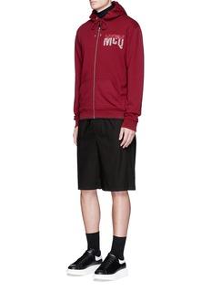 McQ Alexander McQueenGeometric logo patch cotton shorts