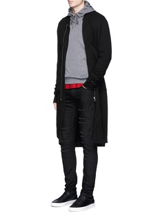 McQ Alexander McQueen Swallow patch cotton blend hoodie