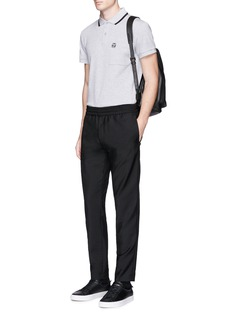 McQ Alexander McQueen Logo print chest pocket polo shirt