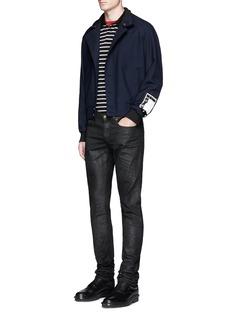 McQ Alexander McQueenJersey back wool flannel blouson jacket