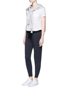 James PerseCashmere knit cropped genie sweatpants