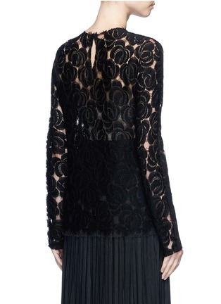 Back View - Click To Enlarge - Ms MIN - Floral lace wool blend top