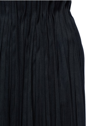 Detail View - Click To Enlarge - Ms MIN - Pleated wool blend skirt