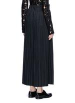 Pleated wool blend skirt