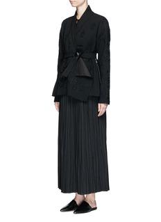 Ms MINPleated wool blend skirt
