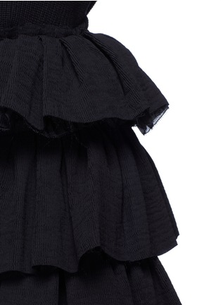 Detail View - Click To Enlarge - Ms MIN - Tiered ruffle plissé skirt