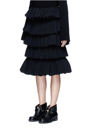 Front View - Click To Enlarge - Ms MIN - Tiered ruffle plissé skirt