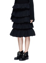 Tiered ruffle plissé skirt