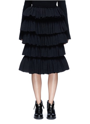 Main View - Click To Enlarge - Ms MIN - Tiered ruffle plissé skirt