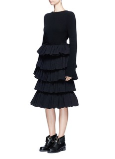 Ms MINTiered ruffle plissé skirt