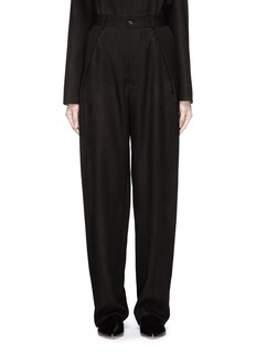 Ms MIN Pleated front sheer wide leg pants
