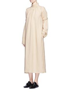 Ms MINPiped panel linen blend twill dress