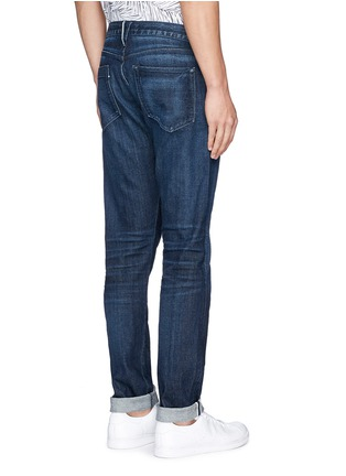 Back View - Click To Enlarge - 3x1 - 'M5' selvedge denim slim jeans