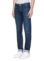 'M5' selvedge denim slim jeans