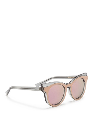 self-portrait - x Le Specs 'Edition Four' frosted acetate round mirror sunglasses