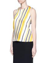 'Impromptu' stripe volume backless top