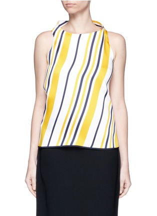 Main View - Click To Enlarge - Maticevski - 'Impromptu' stripe volume backless top
