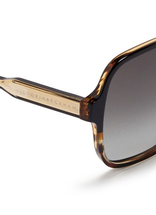 Detail View - Click To Enlarge - Victoria Beckham - 'Iconic Square' tortoiseshell acetate oversize sunglasses