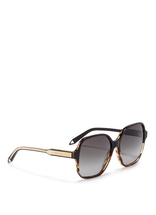 Figure View - Click To Enlarge - Victoria Beckham - 'Iconic Square' tortoiseshell acetate oversize sunglasses