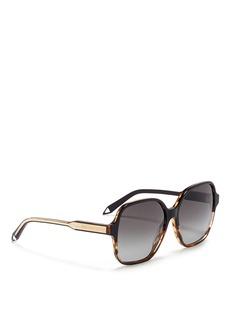 VICTORIA BECKHAM'Iconic Square' tortoiseshell acetate oversize sunglasses