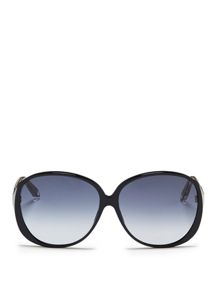 Main View - Click To Enlarge - Victoria Beckham - 'Large Fine Oval' acetate oversize sunglasses