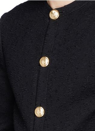 细节 - 点击放大 - PALM ANGELS - COCO麻叶图案钮扣夹克