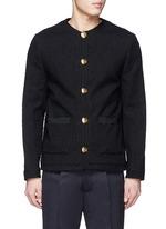 'Coco' hemp leaf button jacket