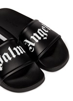 Logo embossed pool slide sandals