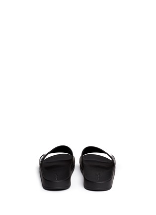 Back View - Click To Enlarge - Palm Angels - Logo embossed pool slide sandals