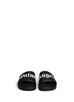 Front View - Click To Enlarge - Palm Angels - Logo embossed pool slide sandals