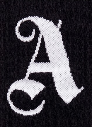 Detail View - Click To Enlarge - Palm Angels - Logo intarsia cotton blend socks