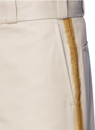 Detail View - Click To Enlarge - Palm Angels - Lurex side stripe shorts