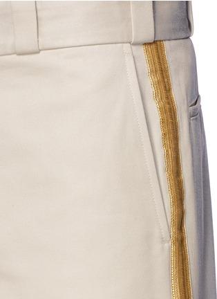 细节 - 点击放大 - PALM ANGELS - 闪亮竖纹拼贴纯棉短裤