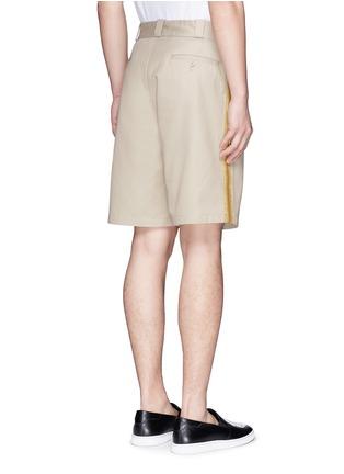 背面 - 点击放大 - PALM ANGELS - 闪亮竖纹拼贴纯棉短裤
