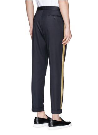 Palm Angels-Lurex side stripe cropped pants