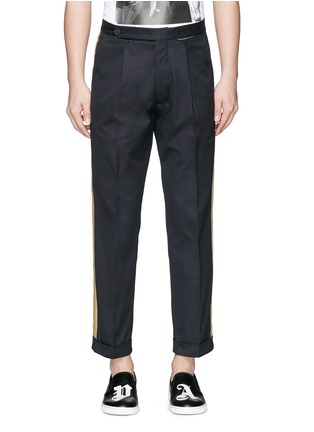 Main View - Click To Enlarge - Palm Angels - Lurex side stripe cropped pants