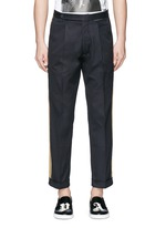Lurex side stripe cropped pants