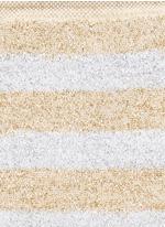 Metallic stripe cotton blend socks