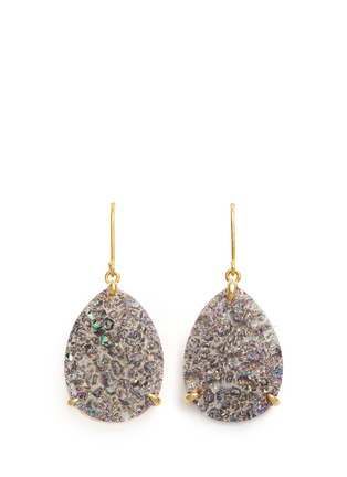 Main View - Click To Enlarge - Niin - 'Yin' droplet Drusy spectrum earrings