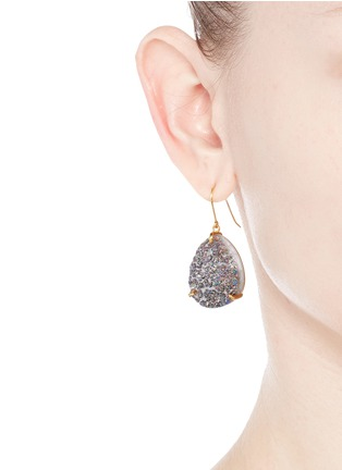 Figure View - Click To Enlarge - Niin - 'Yin' droplet Drusy spectrum earrings