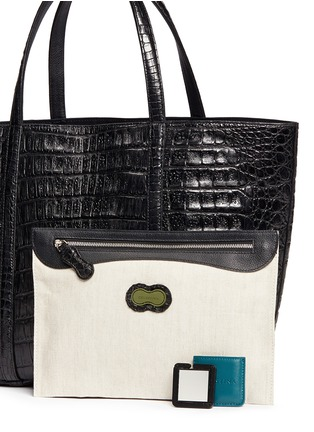 - CELESTINA BAGS - 'Coronel' Caiman crocodile leather shopper tote