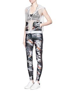 WE ARE HANDSOME'Spice' leopard print mesh trim leggings