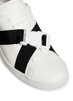 Lock strap leather sneakers